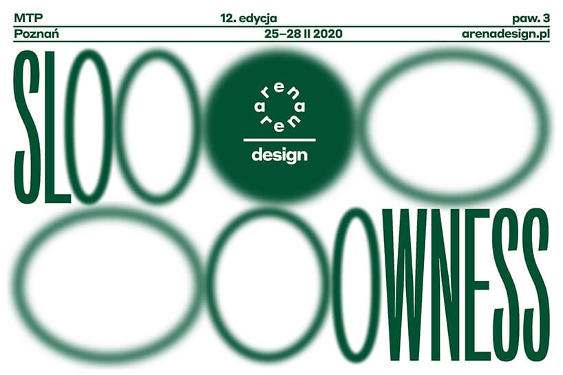 slooowness - grafika wydarzenia zielone litery na białym tle