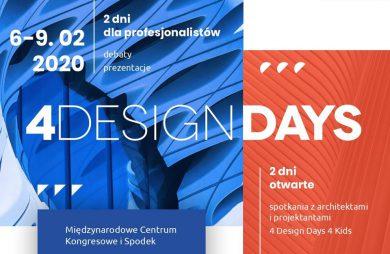 niebiesko pomarańczowy plakat 4Design Days 2020