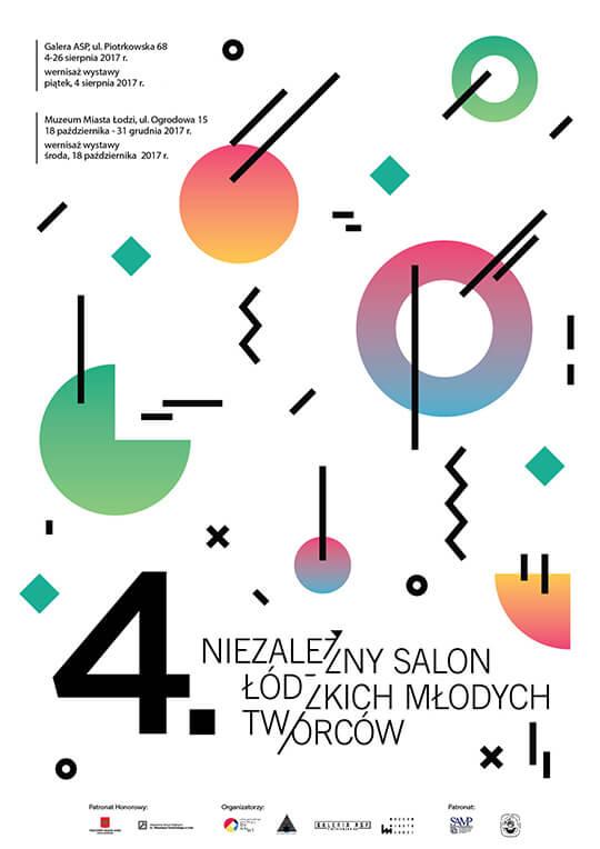 plakat Salon Łódzkich Młodych Twórców