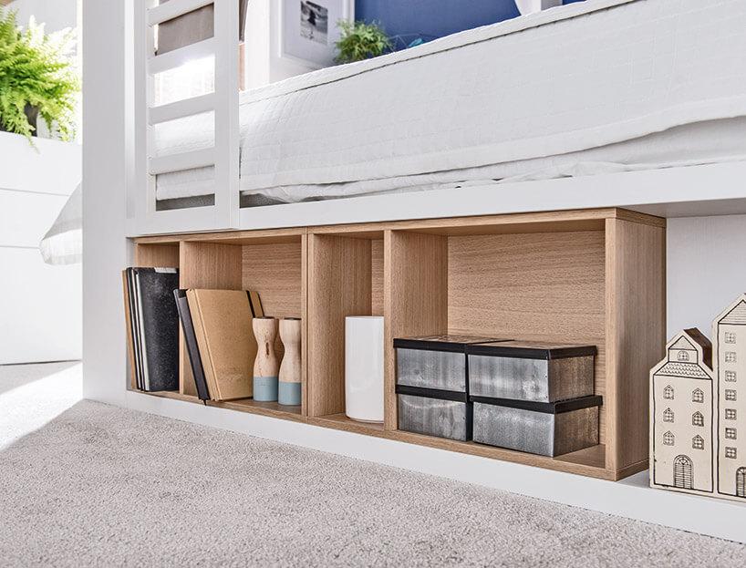 półki wwielofunkcyjne łóżku zkolekcji 4You VOX