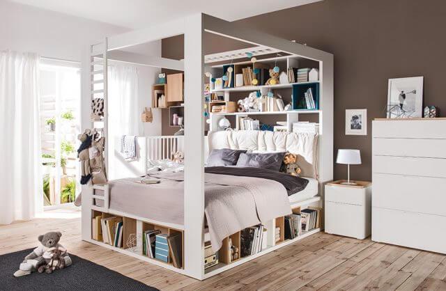 łóżko z zabudową