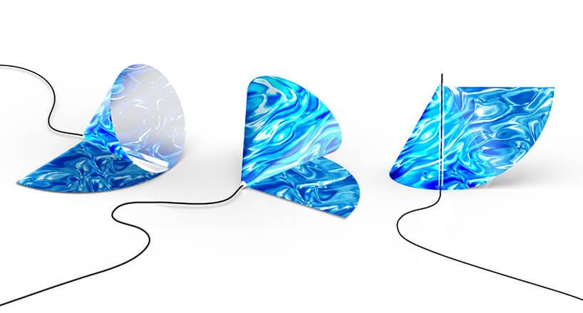 projekt lampy zniebieskim kloszem