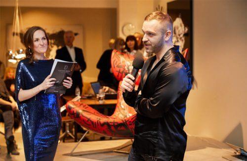 Mateusz Suda podczas urodzin 2019 BoConcept