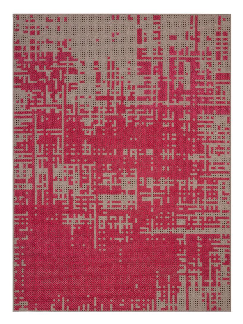 różowy dywan