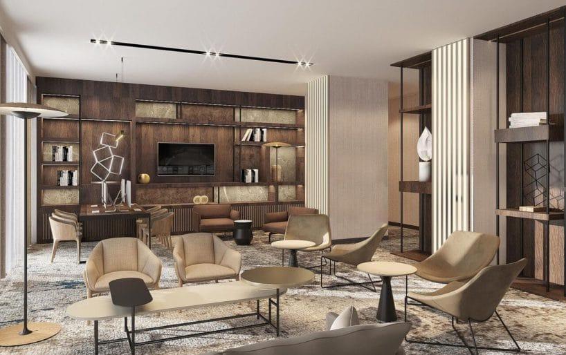 projekt wnętrz hotelu marriott wkrakowie