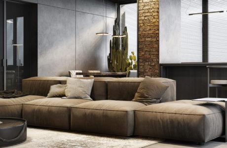 Spójne oblicze industrialu: apartament na poddaszu w Monachium