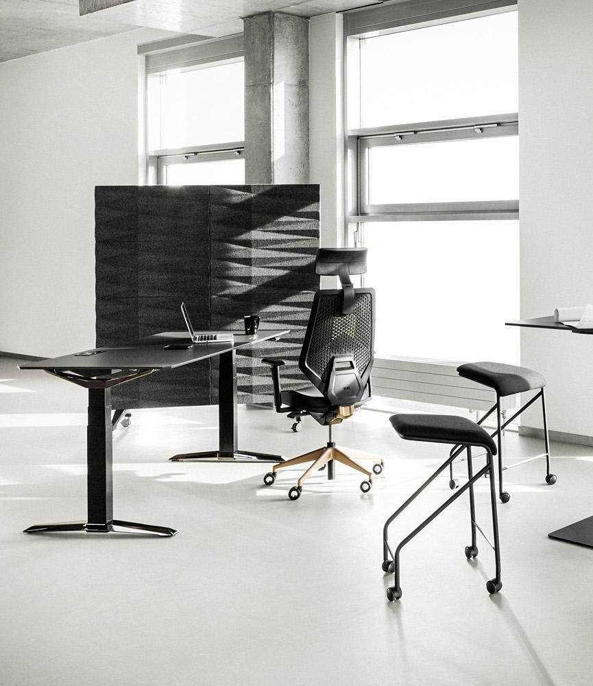 szara ścianka akustyczna imeble biurowe od vank