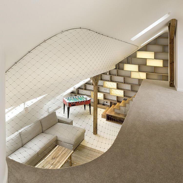 górne piętro loftu