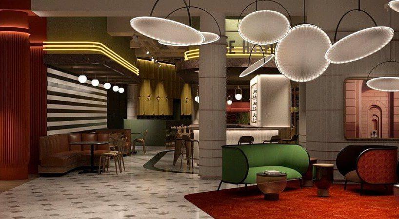 hotel Accor Tribe wnętrze hotelu kolorowe