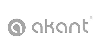 szary logotyp akant na białym tle