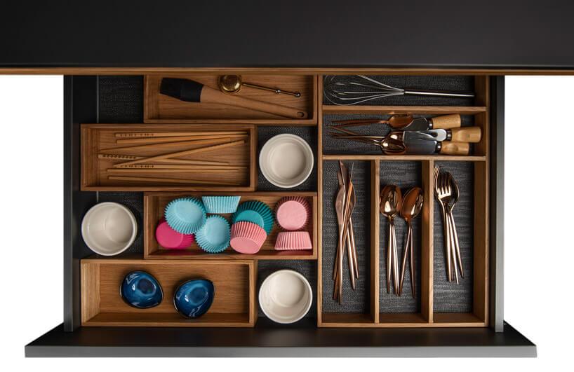 akcesoria drewniane do szuflady