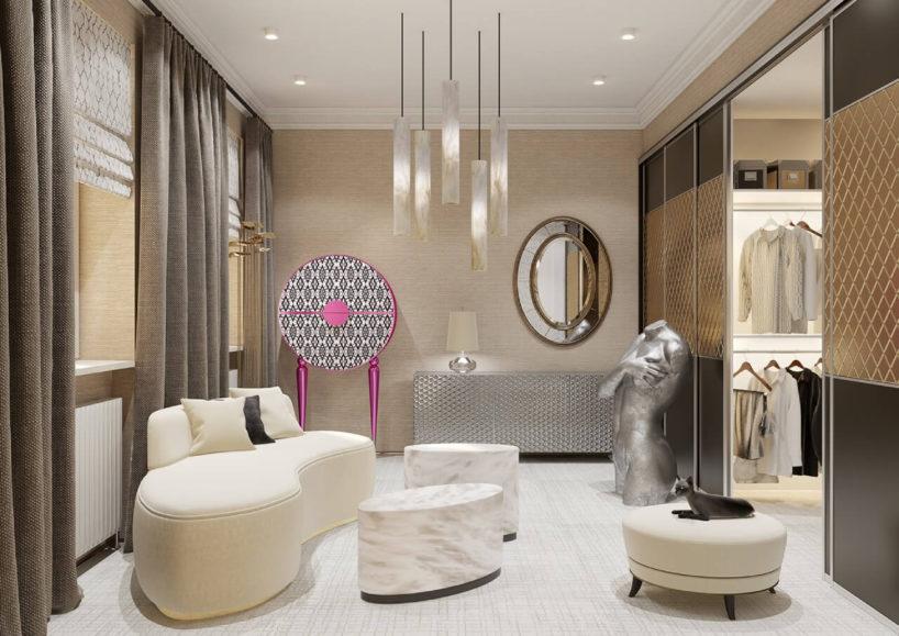 jasna garderoba zoświetleniem wykonanym zalabastru alabaster gallery