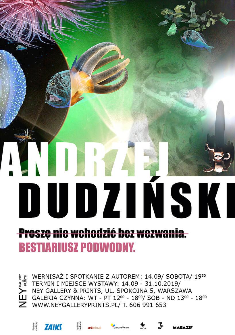 plakat wystawy Andrzej Dudzińskiego wNEY GALLERY PRINTS