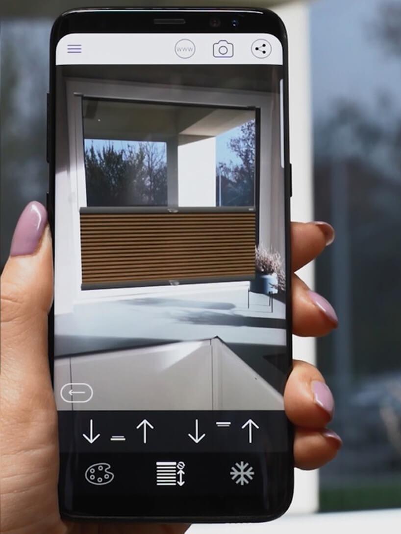 aplikacja do wirtualnej aranżacji okien Anwis Home podczas działania na smartphonie