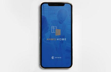 ekran powitalny aplikacji do wirtualnej aranżacji okien Anwis Home