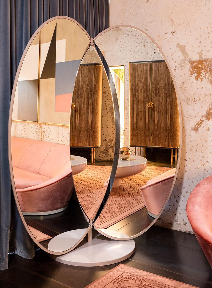 Luksusowe ogromne składane lustro