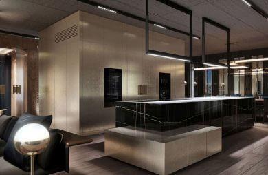 nowoczesne wnętrze apartamentu Awangarda
