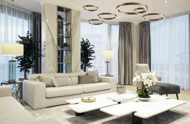 nowoczesny elegancki apartament ze złotymi akcentami w Monachium projektu MIKOŁAJSKAstudio