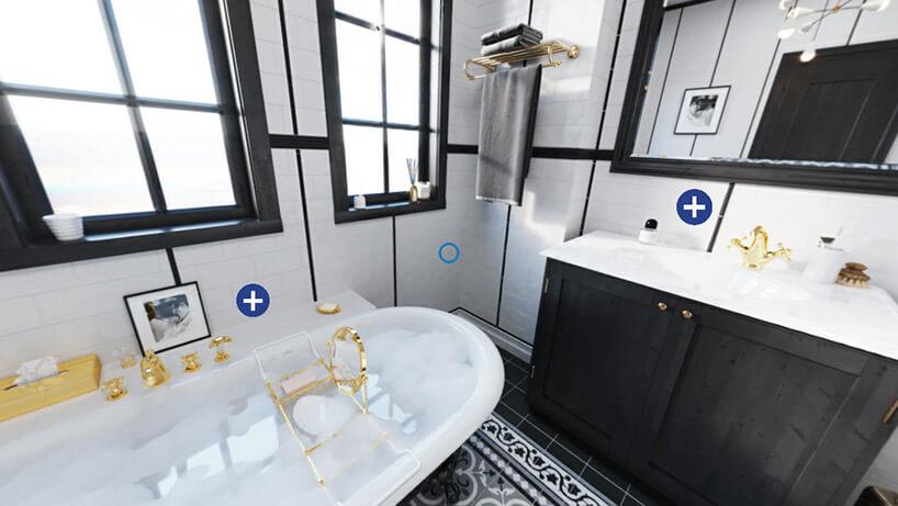 aranżacja łazienki waplikacji kludi