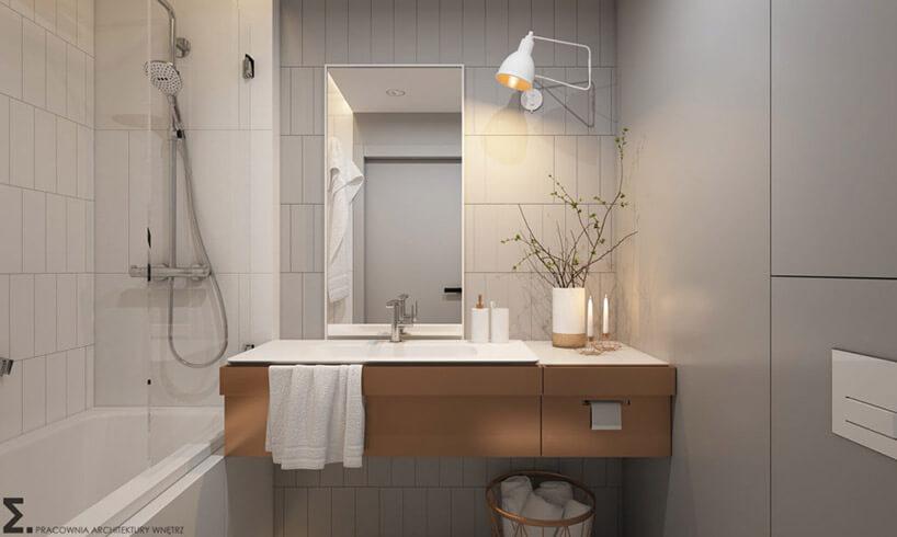 duża umywalka wmałej łazience