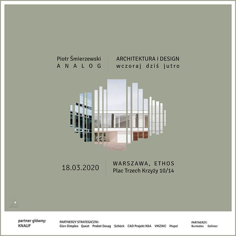 plakat spotkania wWarszawie ARCHITEKTURA DESIGNU wczoraj dziś jutro wramach ARCH_event 2020
