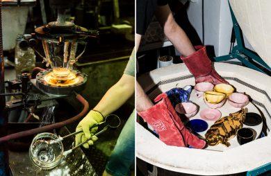 zestawienie jak tworzy się szklane i ceramiczne naczynia