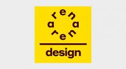 żółty logotyp ARENA DESIGN 2020
