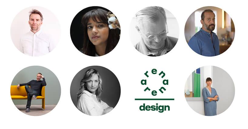 siedmiu gości Arena Design 2020 na wspólnym plakacie
