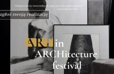 art in architecture festiwal plakat