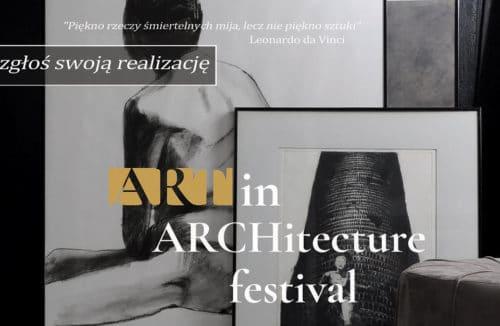 art in architecture festiwal plakat