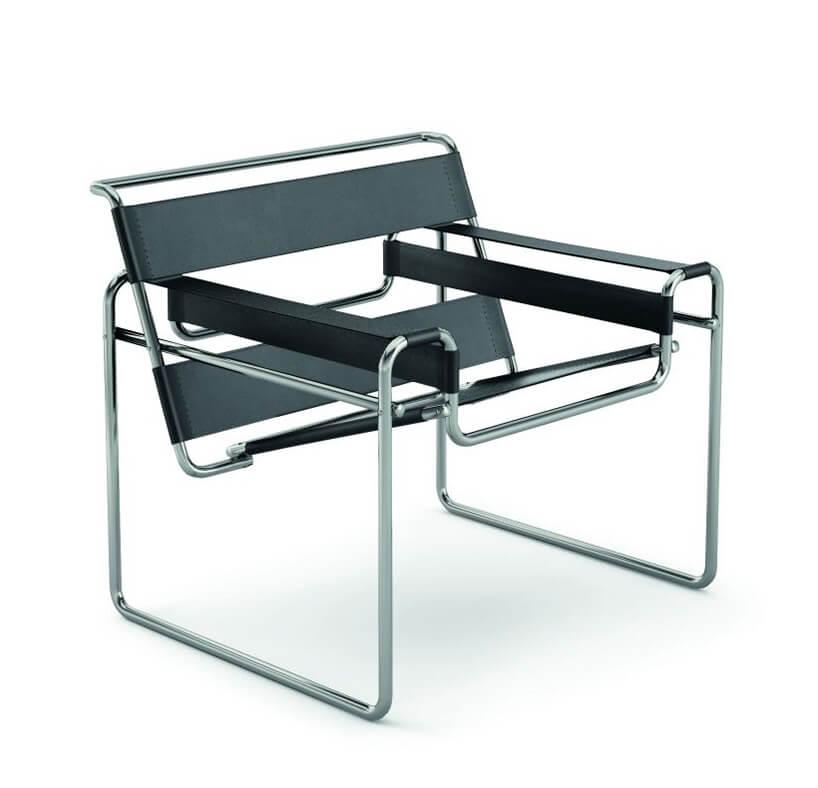 Bauhaus wyjątkowe krzesło Wassily Chair projektu Marcel Breuer z1925
