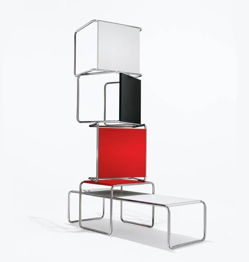 Bauhaus stolik Laccio Tables projektu Marcel Breuer z1925