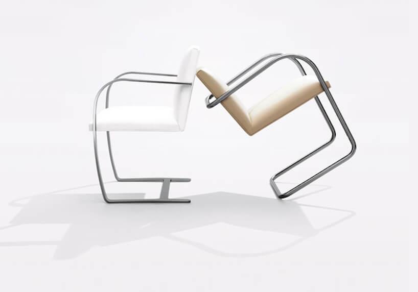 wyjątkowe krzesło Brno Chair projektu Mies van der Rohe z1930