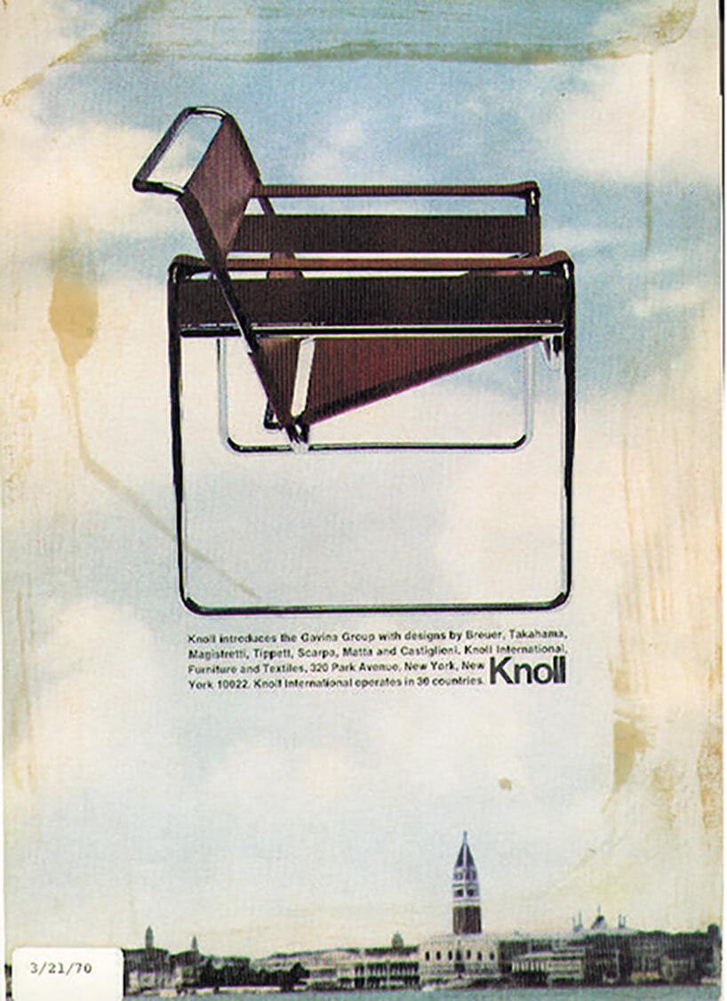 stary plakat reklamowy krzesła Wassily Chair