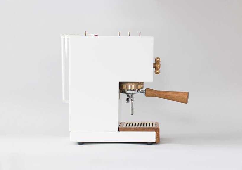 biało złoty ekspres do kawy