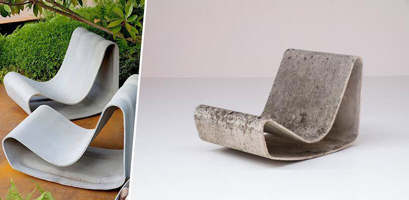 fotel ztafli betonu