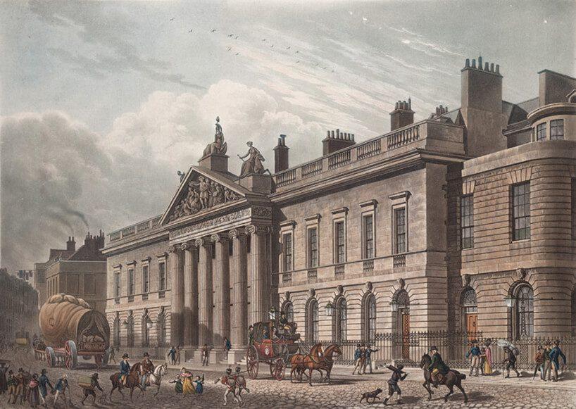 stary obraz budynku biurowego East India House
