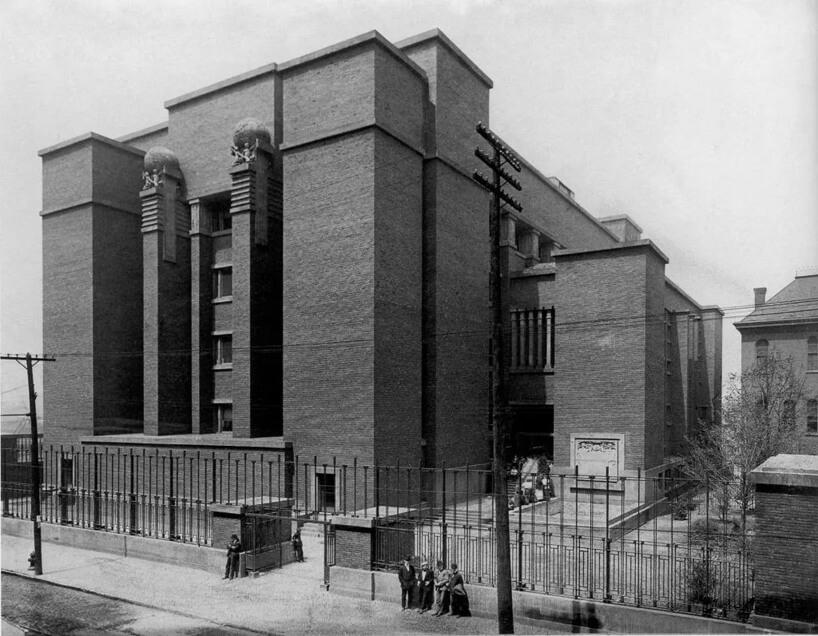 stare czarno białe zdjęcie biurowca Larkin Building Administration