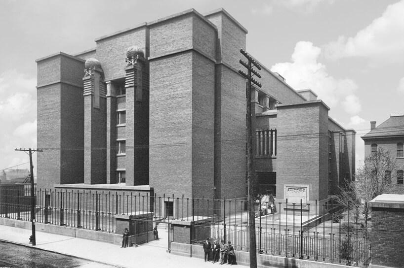 stare czarno białe zdjęcie biurowca Larkin Building