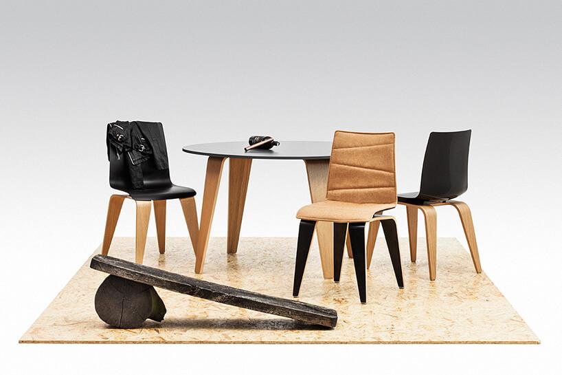 czarne krzesła iczarny stół