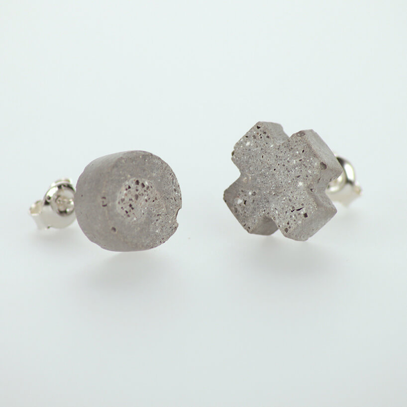 betonowe kolczyki