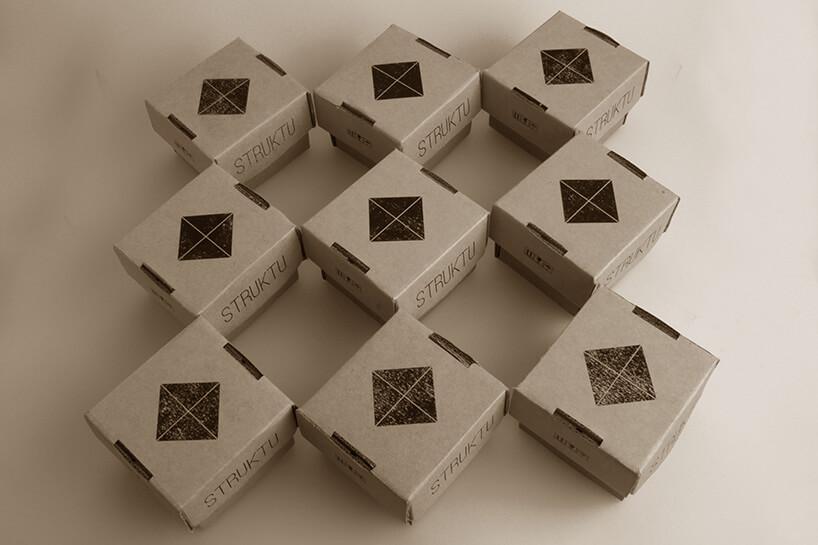 szare pudełeczka struktu