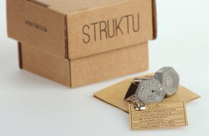 betonowa biżuteria Struktu