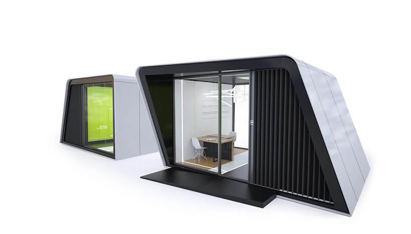 szaro-czarny metalowy box zdużym wejściem