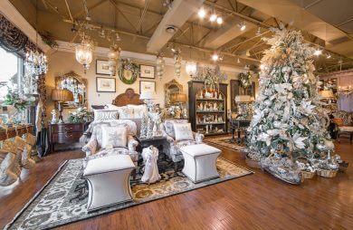 bożonarodzeniowe dekoracje w jednym ze sklepów
