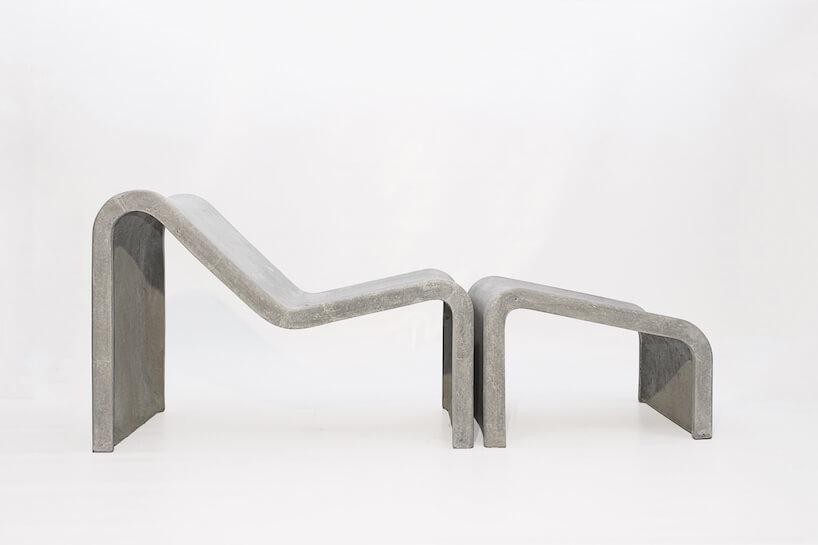 wyjątkowa betonowa leżanka