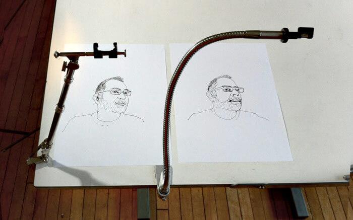 dwa rysunki człowieka