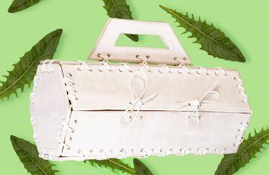 torba zrobiona białych płytek Azulejos