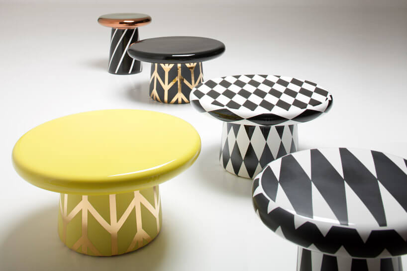 wzorzyste stołki