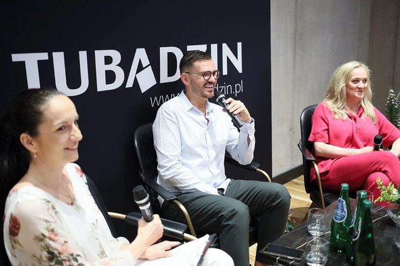 Dorota Koziara iMaciej Zień na spotkaniu Ceramiki Tubądzin